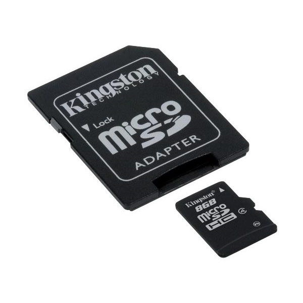 SDHC Kingston micro 8GB C4, Speed Class 4, SD adapter 085061