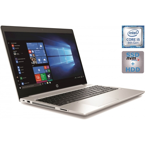 Prenosnik HP ProBook 450 G6 i5-8265U/8GB/SSD 256GB/1TB/15,6\'\'FHD IPS/MX130 2GB/BL KEY/W10Home