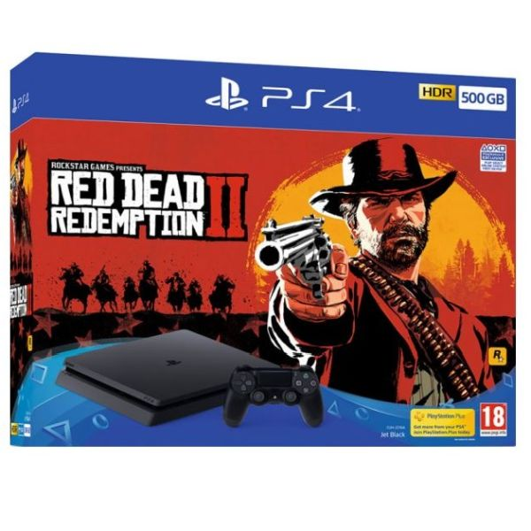 Igralna konzola Playstation 4 500GB + Red Dead Redemtion 2
