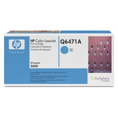 HP Cyan Toner CLJ 3600, 4,000 pages YQ6471A