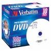 MEDIJ DVD-R VERBATIM 10PK printable široke škatlice (43521)