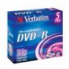 MEDIJ DVD-R VERBATIM 5PK široke škatlice (43519)