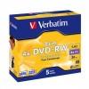 MEDIJ DVD+RW VERBATIM 5PK 8cm široke škatlice (43565)