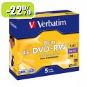 MEDIJ DVD+RW VERBATIM 5PK 8cm široke škatlice 075957