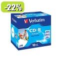 MEDIJ CD-R VERBATIM 10PK printable široke škatlice 080891