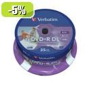 MEDIJ DVD+R VERBATIM 25PK printable tortica (43667)
