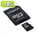 SDHC Kingston micro 8GB C4, Speed Class 4, SD adapter 085061