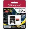 SDHC TRANSCEND MICRO 32GB 600X ULTIMATE, 90MB/s, MLC, C10, UHS-I Speed Class 1 (U1),adapter 122894