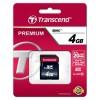 SDHC TRANSCEND 4GB 200X PREMIUM, 30MB/s, Speed Class 10 (C10) (TS4GSDHC10)